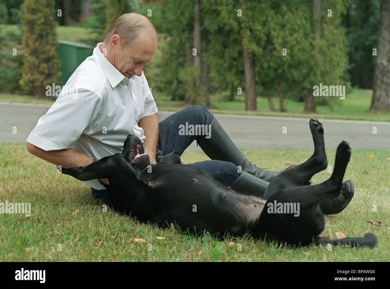 Russian President Vladimir Putin at his countryside residence Novo-Ogaryovo - Stock Image
