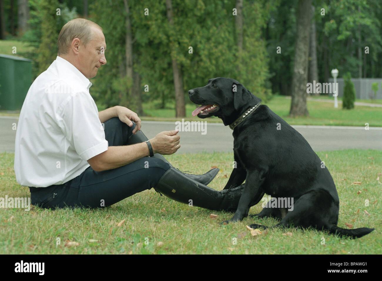 Russian President Vladimir Putin at his residence Novo-Ogaryovo - Stock Image