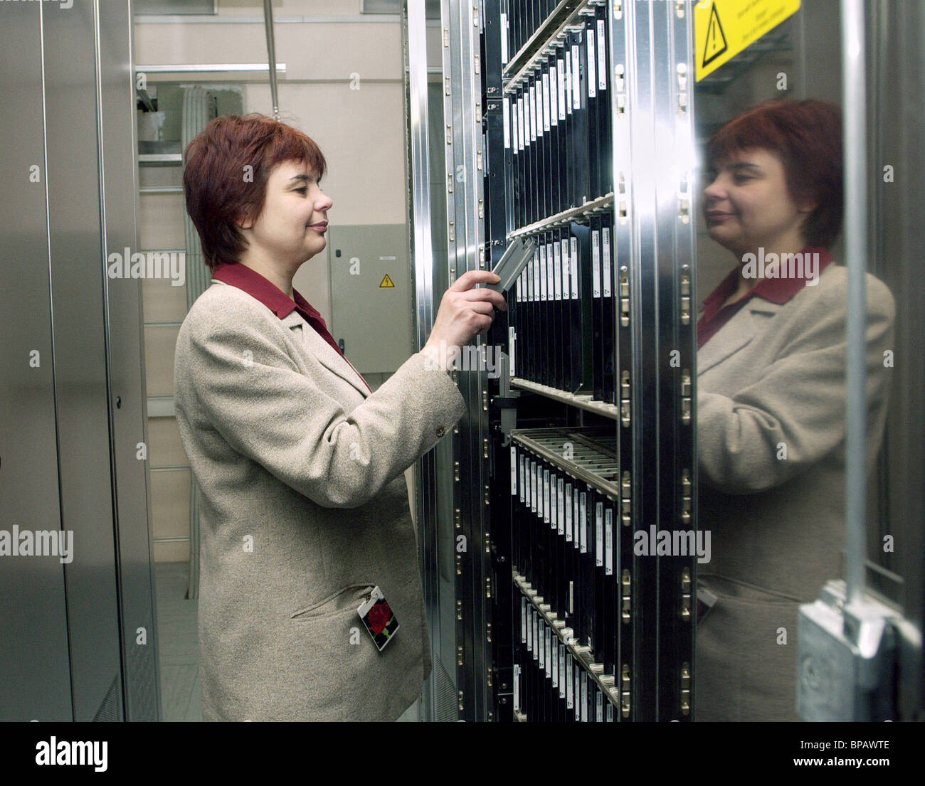 Digital equipment to be installed at Moscow telephone exchanges - Stock Image