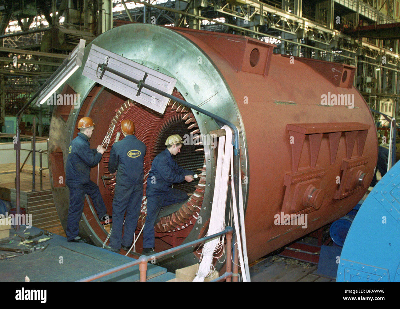 The TF-63 turbo-generator manufactured at the Elsib enterprise - Stock Image