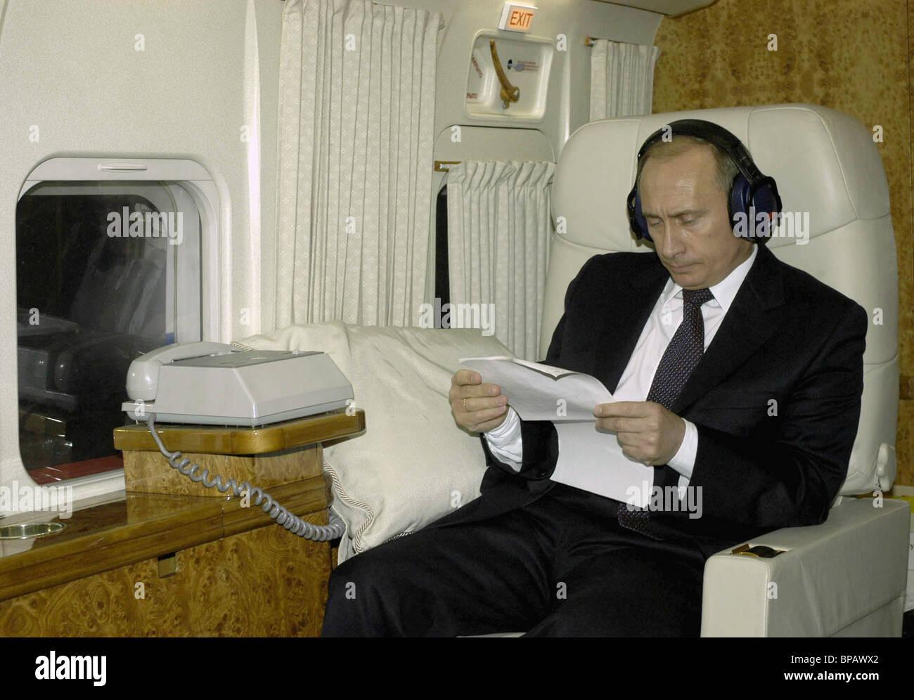 President Vladimir Putin went for a working trip to Chuvashia. - Stock Image