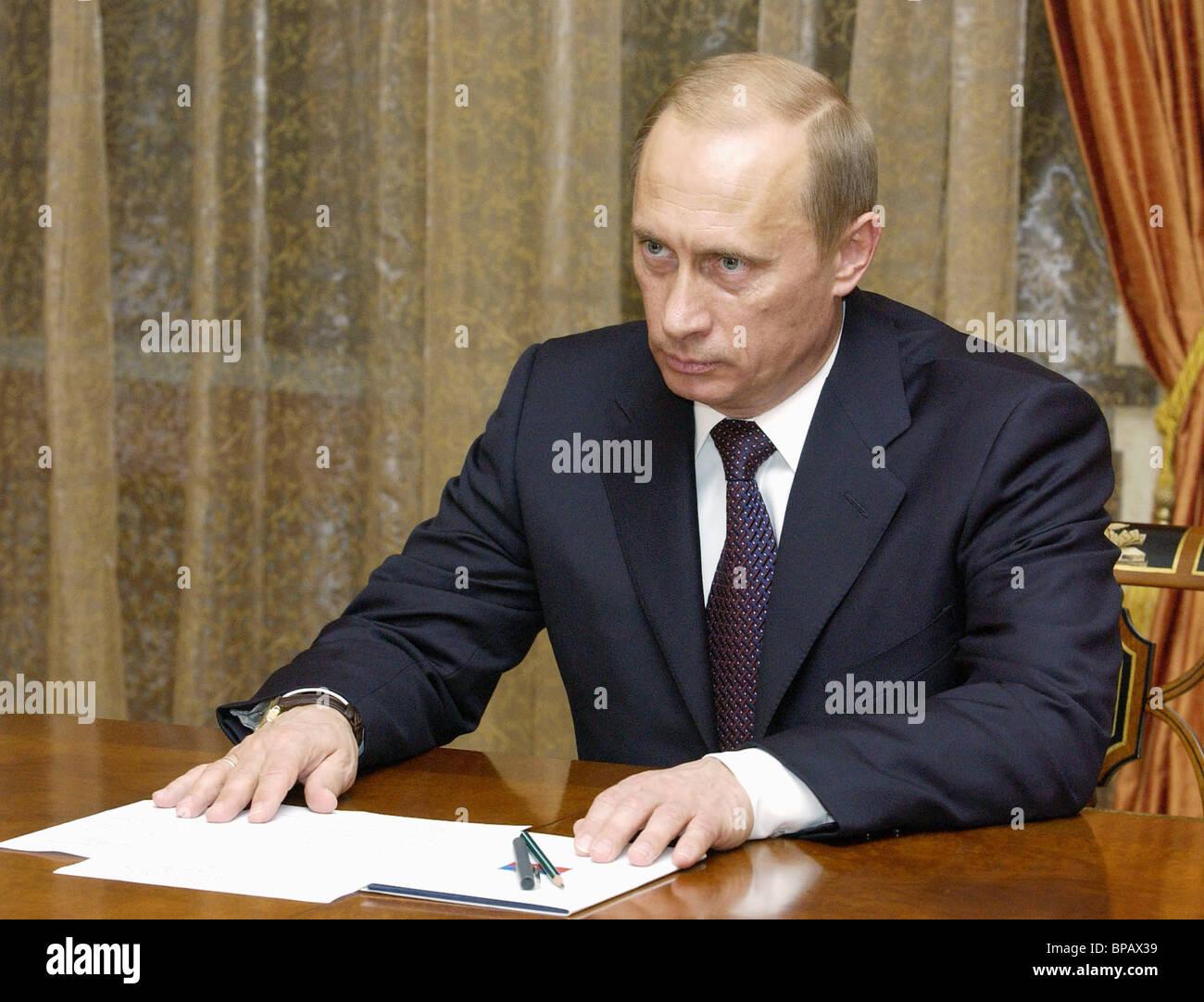 Putin met with Duma leaders - Stock Image