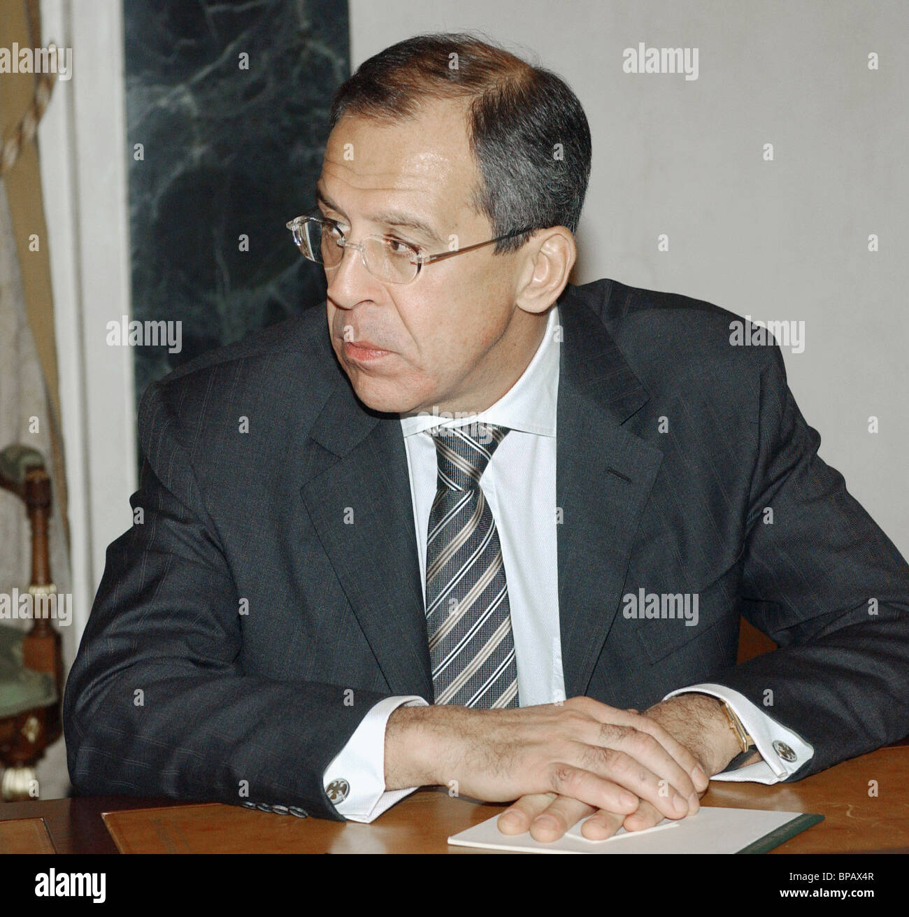 Sergei Lavrov was appointed Foreign Minister of Russia - Stock Image