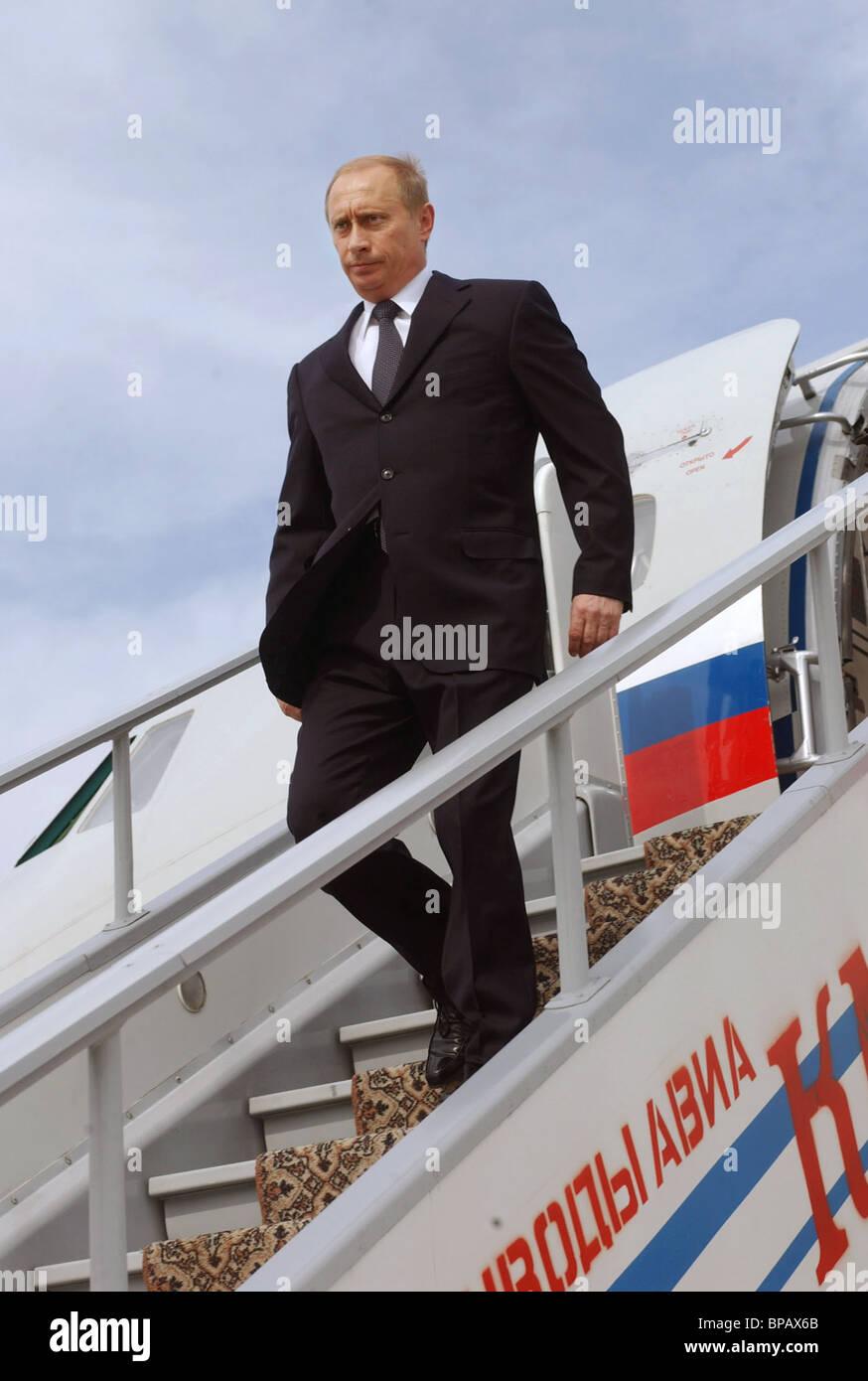 President Vladimir Putin in Stavropol Territory - Stock Image