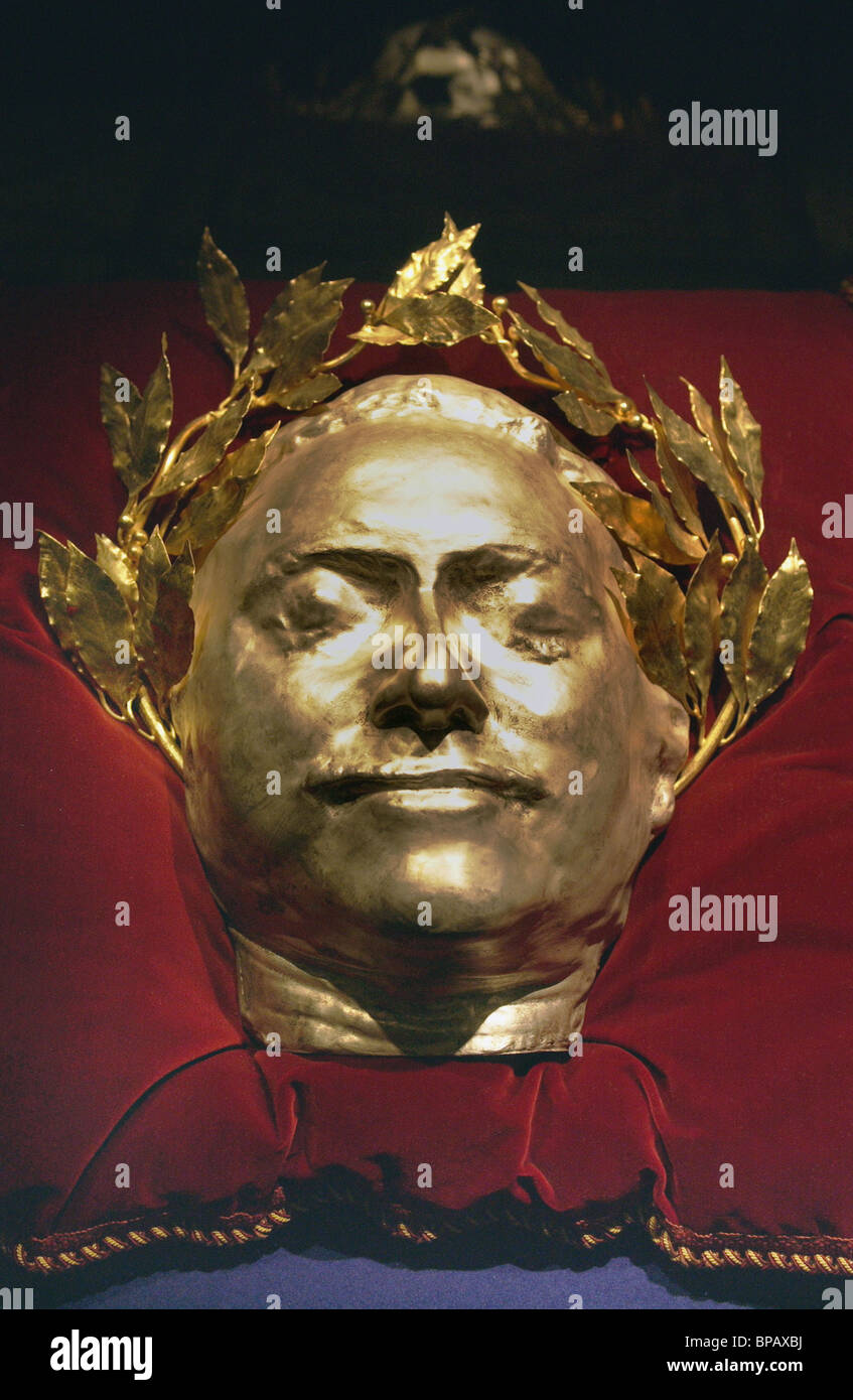Peter the Great's death mask - Stock Image