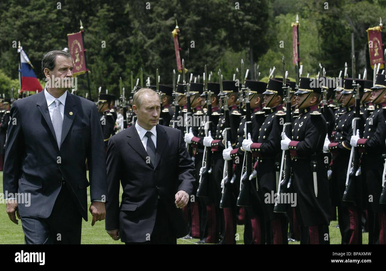 President of Russia Vladimir Putin in Mexico - Stock Image