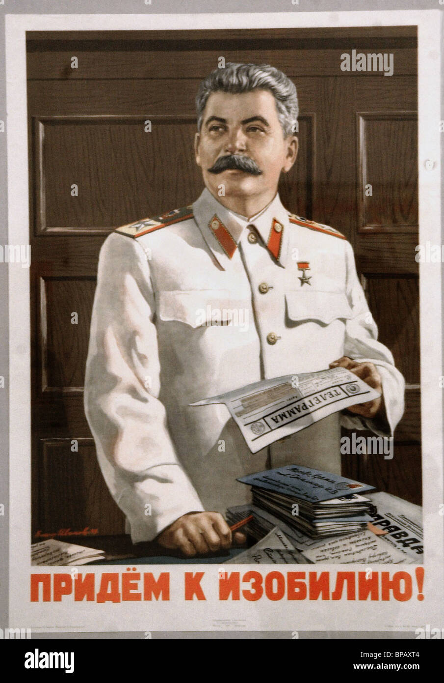 Exhibition of political posters, timed to the 100-year anniversary of ITAR-TASS, opens in St. Petersburg - Stock Image