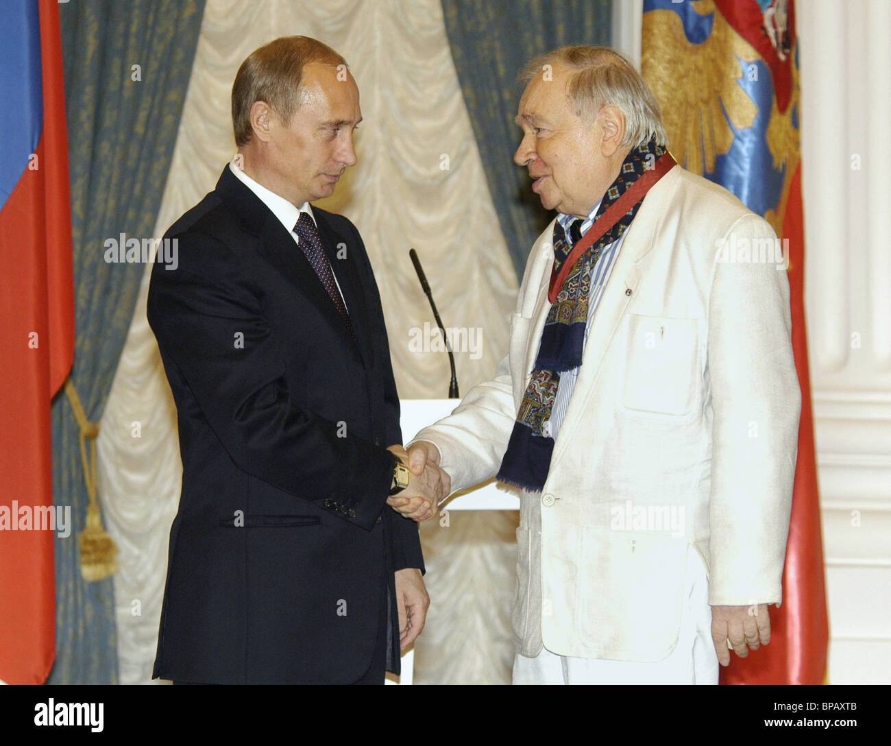 President of Russia presents state awards - Stock Image