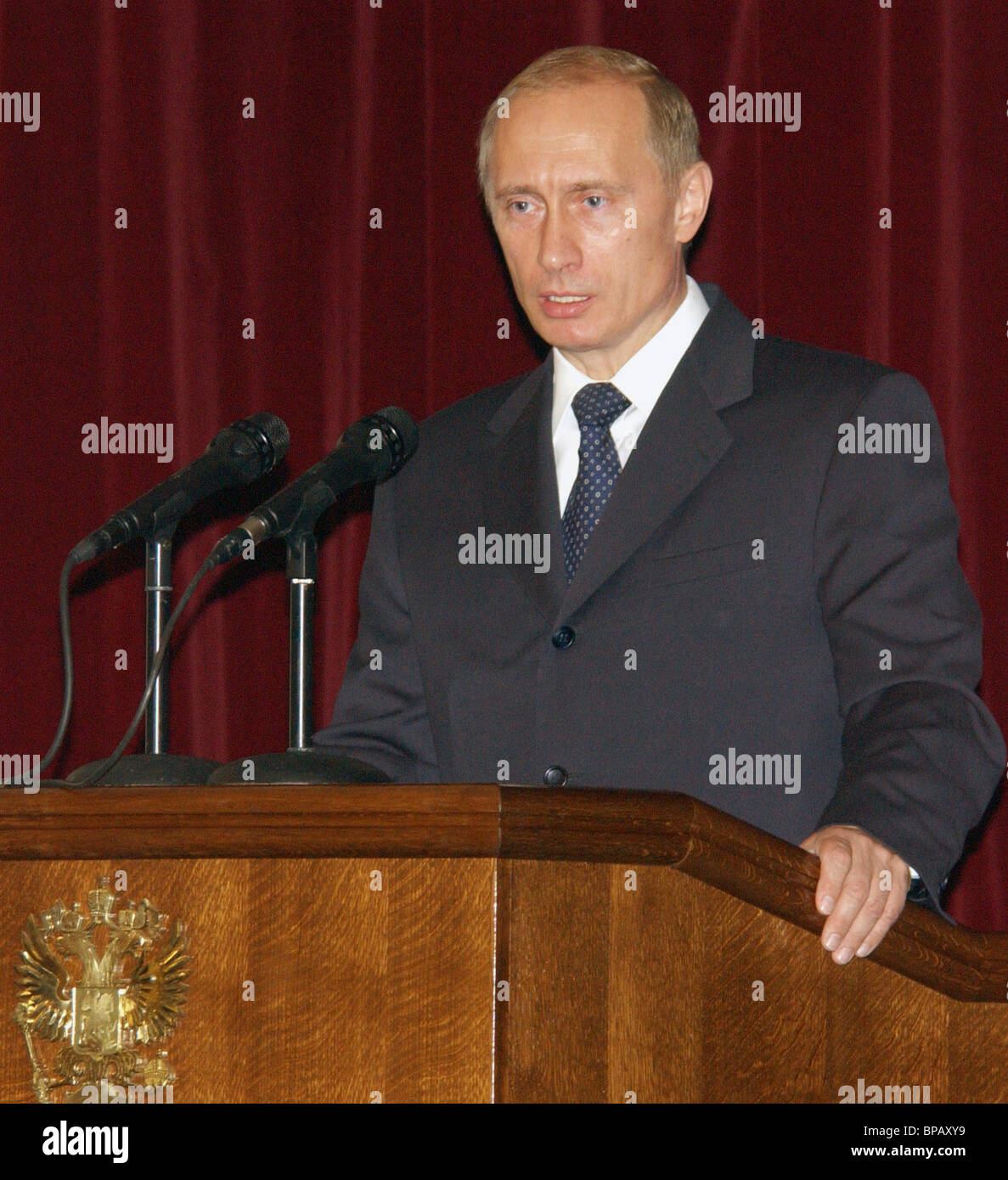 Vladimir Putin attended a conference of Russian Ambassadors at the Foreign Ministry. - Stock Image