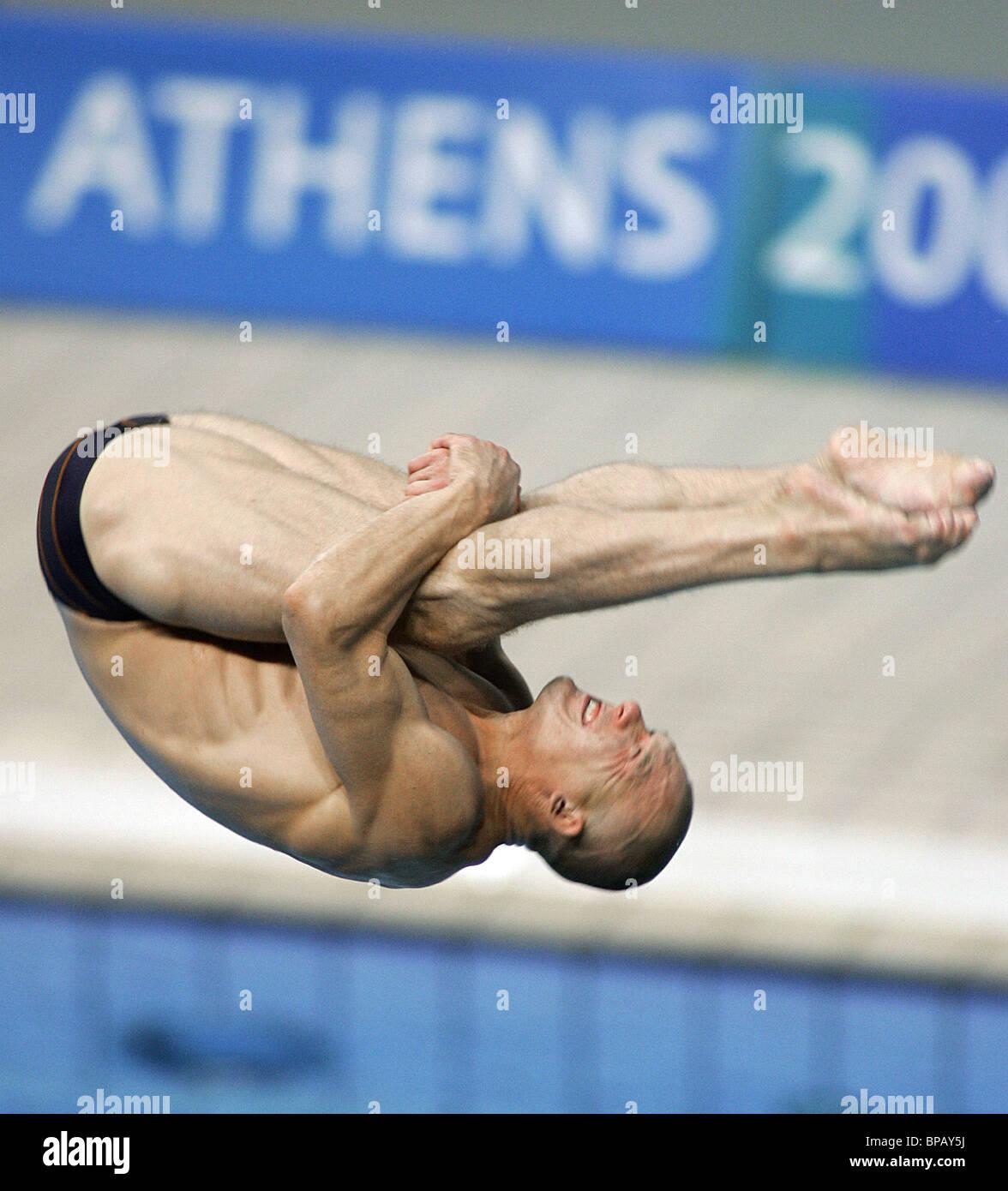 diver Dmitry Sautin won the Bronze Medal in the Men's 3m. Springboard - Stock Image