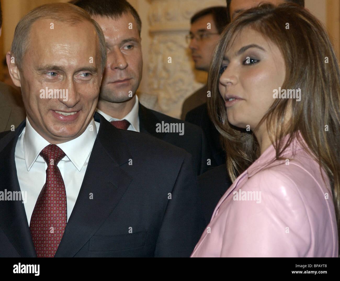 Russian President Vladimir Putin met with members of the RF Olympic team - Stock Image