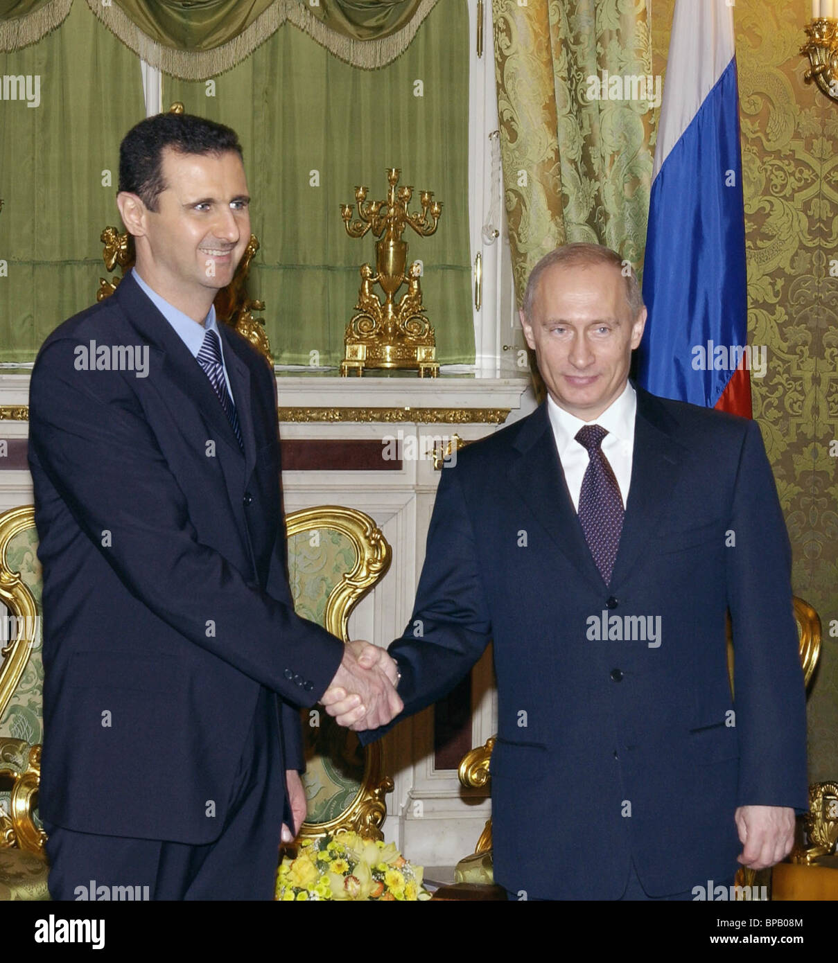 Putin met with Bashar al-Assad in the Kremlin - Stock Image