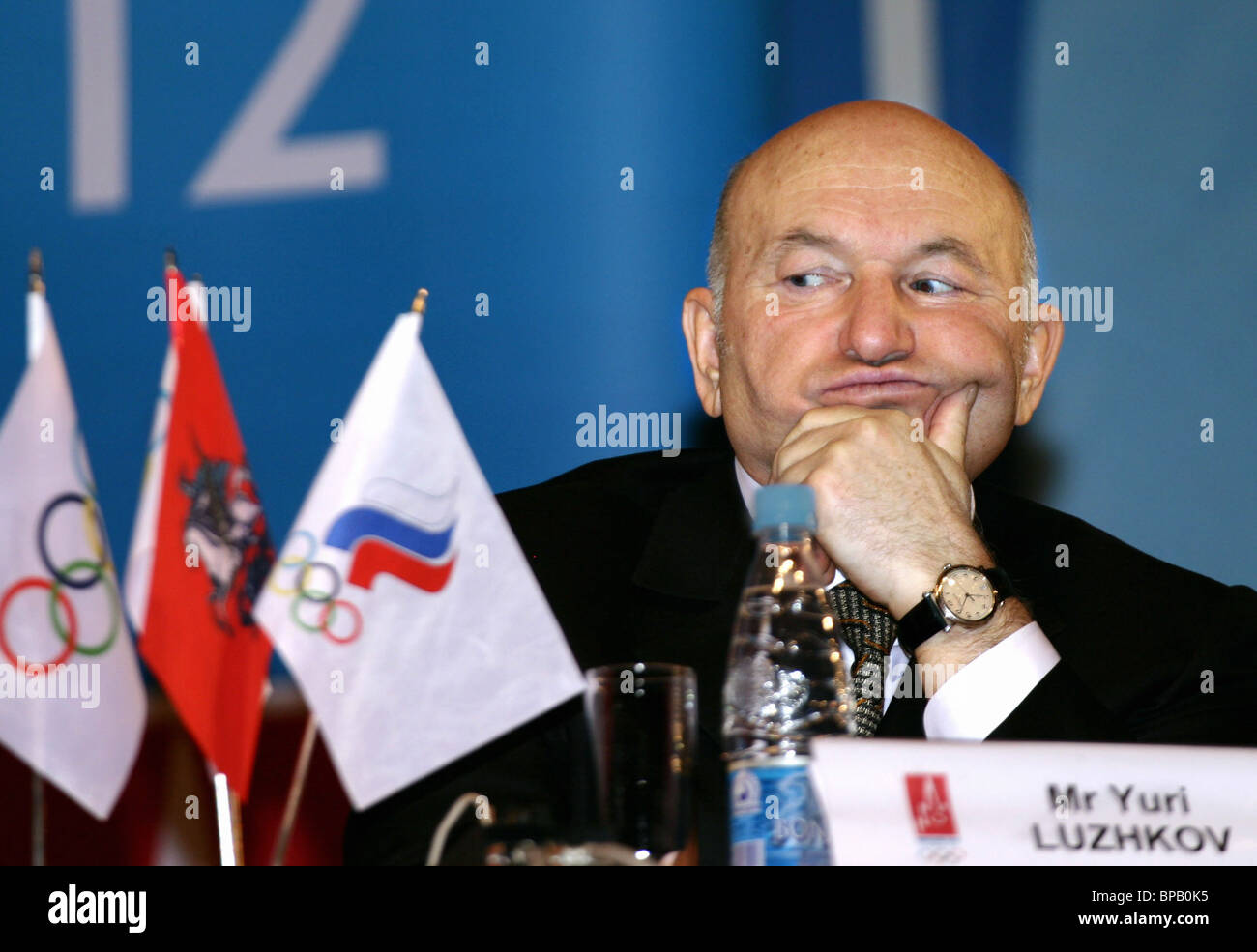 Final press-conference of the evaluation commission of the International Olympic Committee (IOC) held in Moscow - Stock Image
