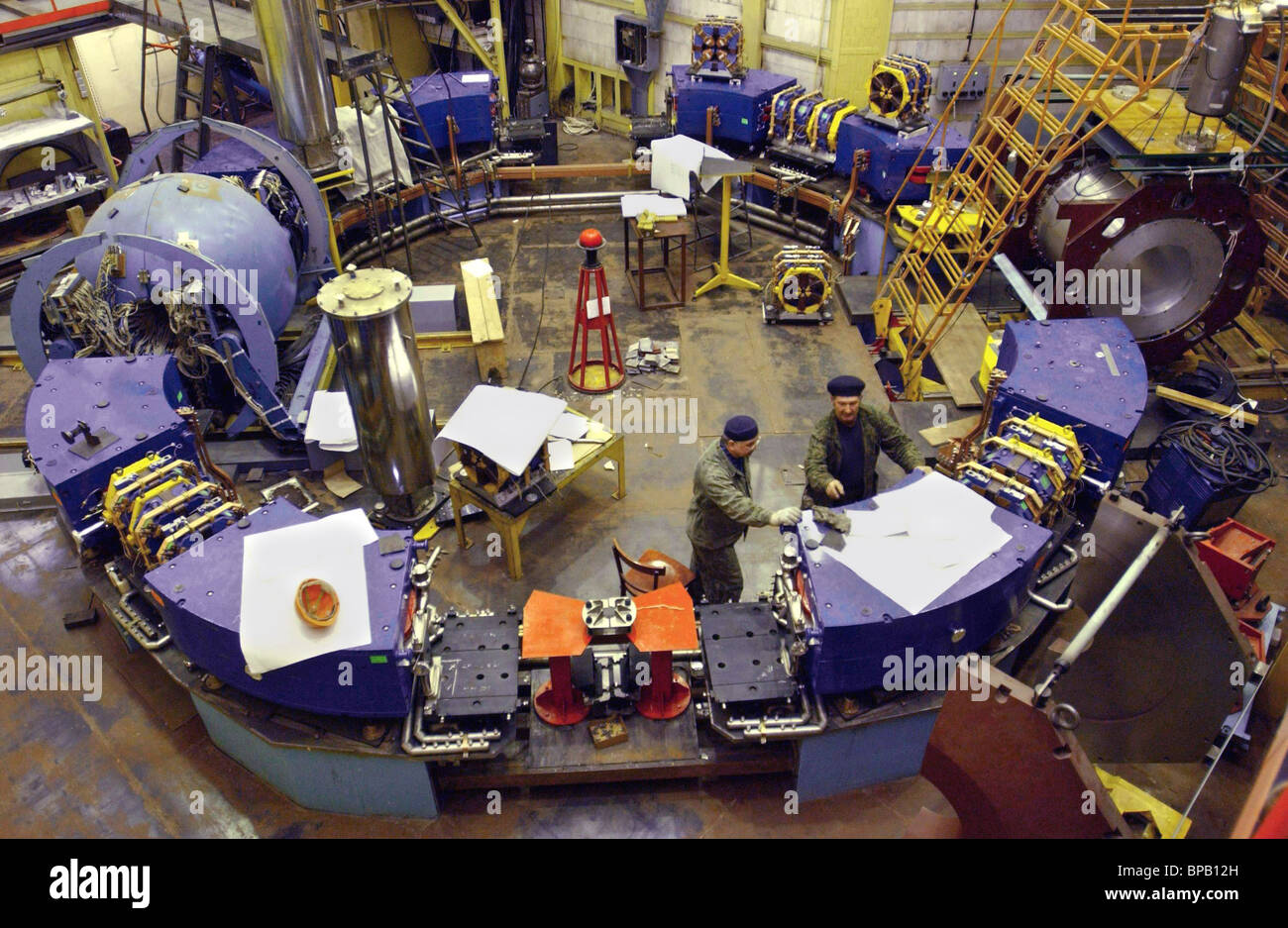 Assemblage of VEPP-2000 Electron-Positron Collider in the Budker Institute of Nuclear Physics in Novosibirsk Stock Photo