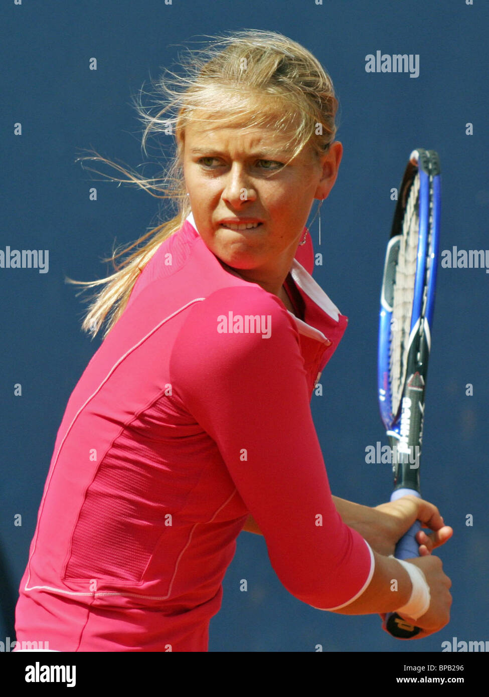 Maria Sharapova places in the quarter-finals of the German Open - Stock Image