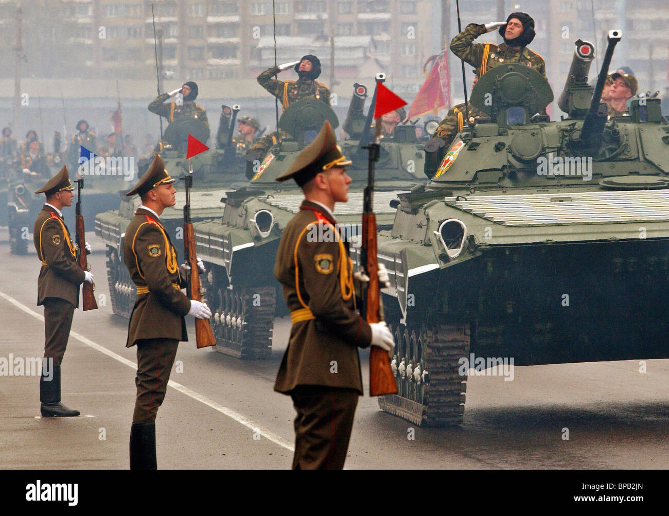 CIS countries celebrate Victory Day - Stock Image