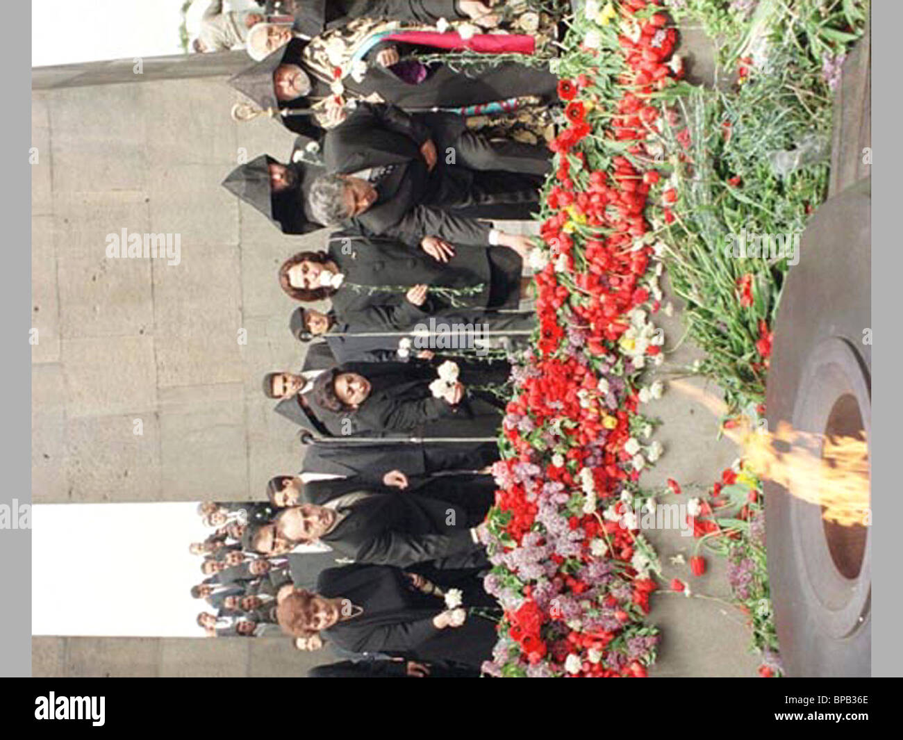 Armenia mourned 1.5 million victims of the 1915 genocide of Armenians - Stock Image