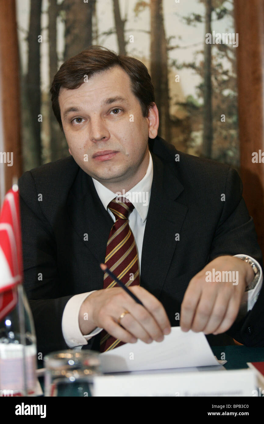 Chairman of the Board for Home Credit & Finance Bank Andrey Lykov. (Photo ITAR-TASS/Vitaly Belousov) - Stock Image