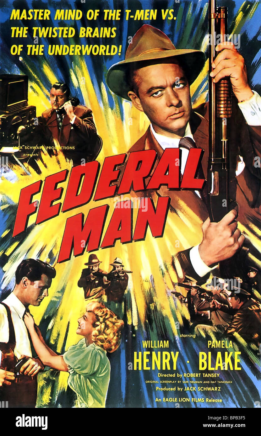 MOVIE POSTER FEDERAL MAN (1950) - Stock Image
