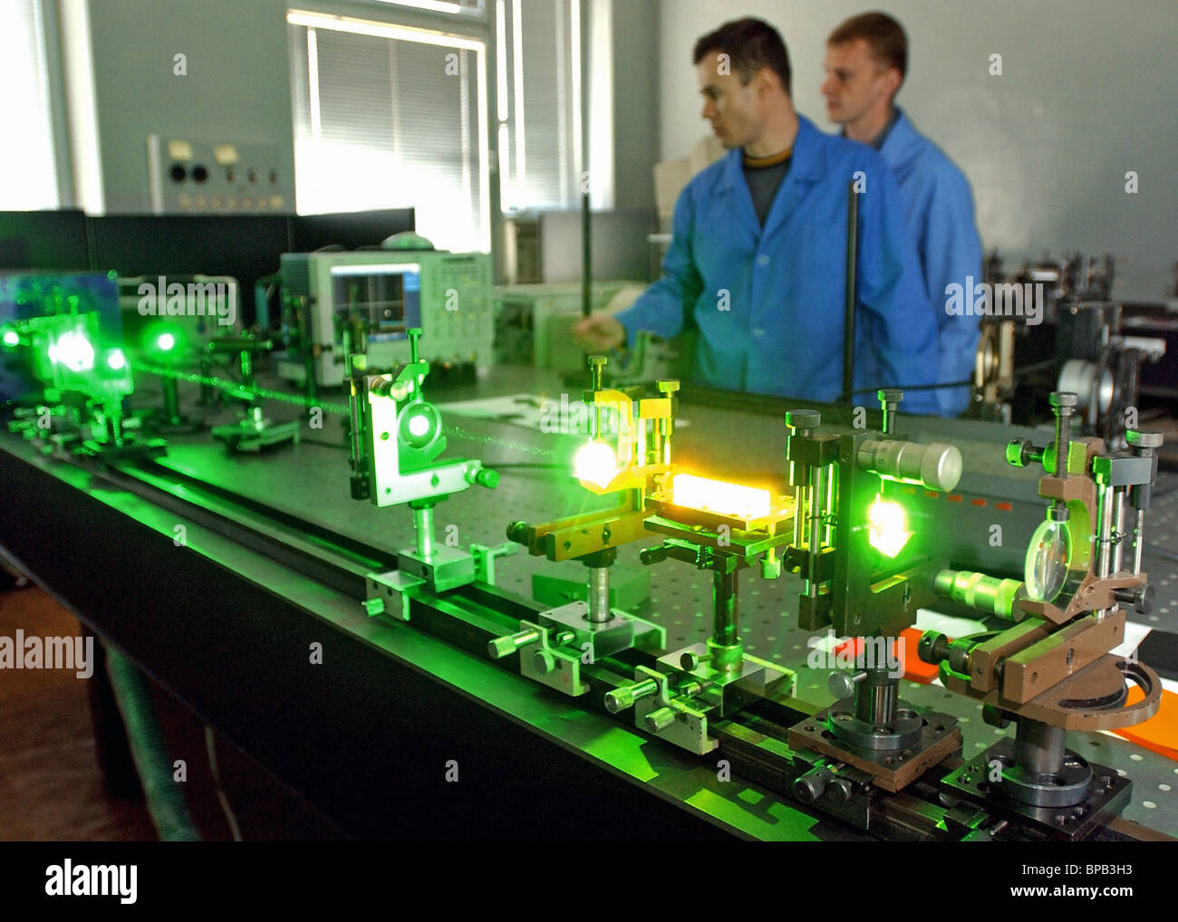 Belarusian scientists invent diode pump continuous-wave laser - Stock Image