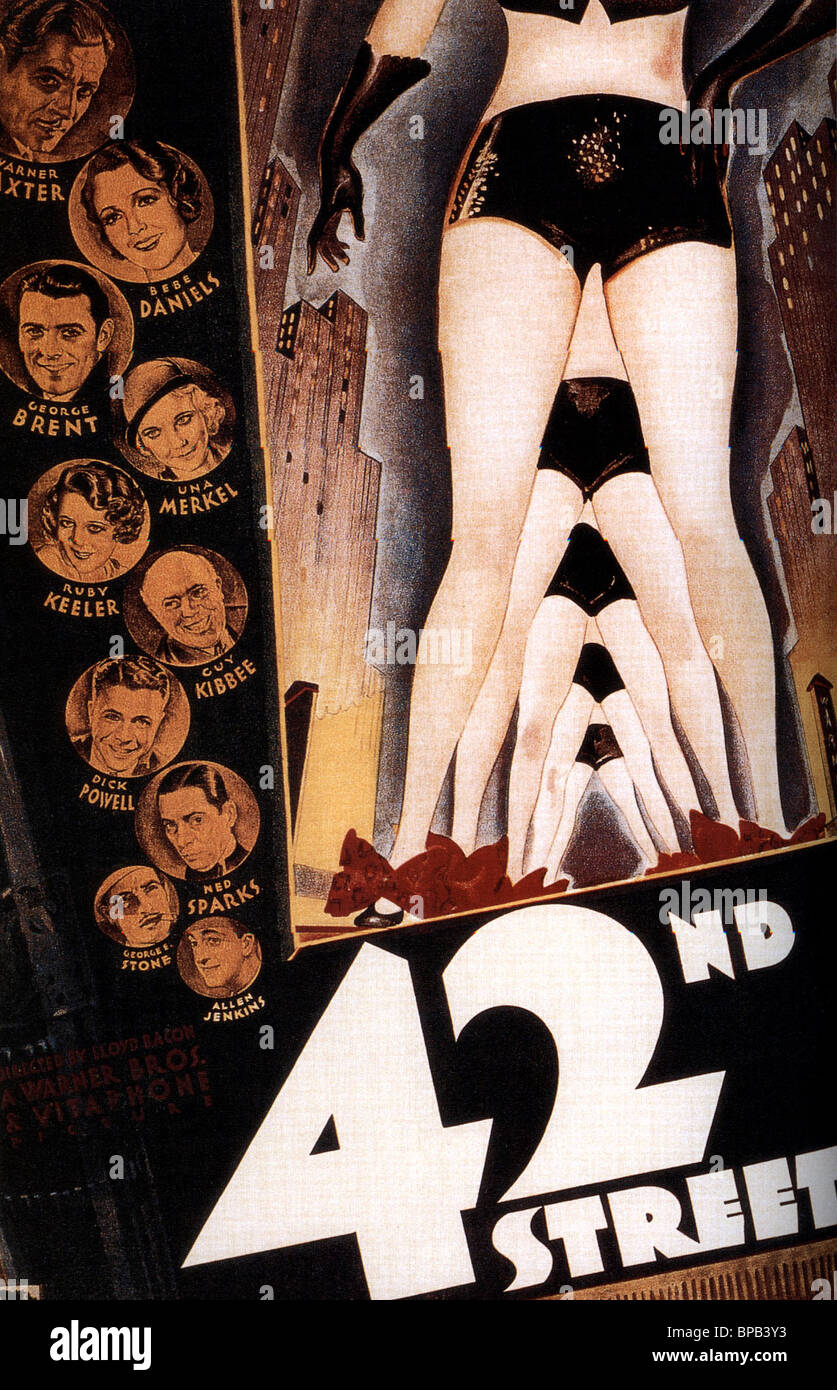 MOVIE POSTER 42ND STREET (1933) - Stock Image