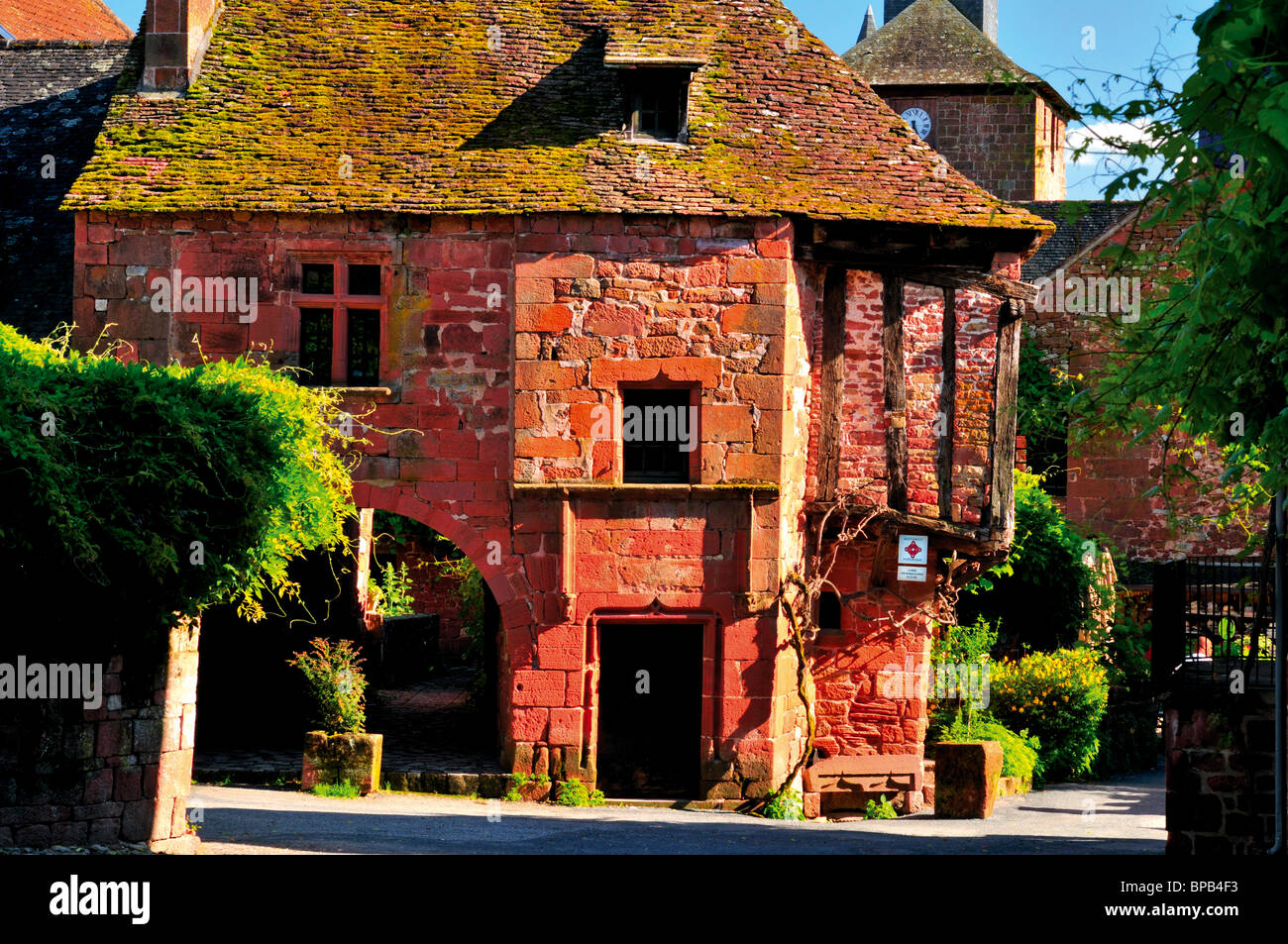 France: Maison de la Sirene  in Collonges-la-Rouge - Stock Image