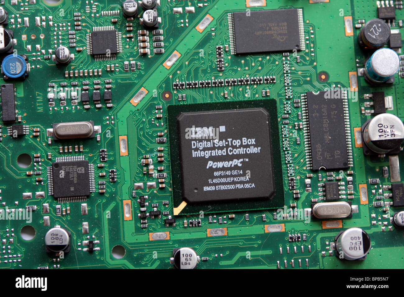 Printed Circuit Board of a DVB digital Television receiver box made ...