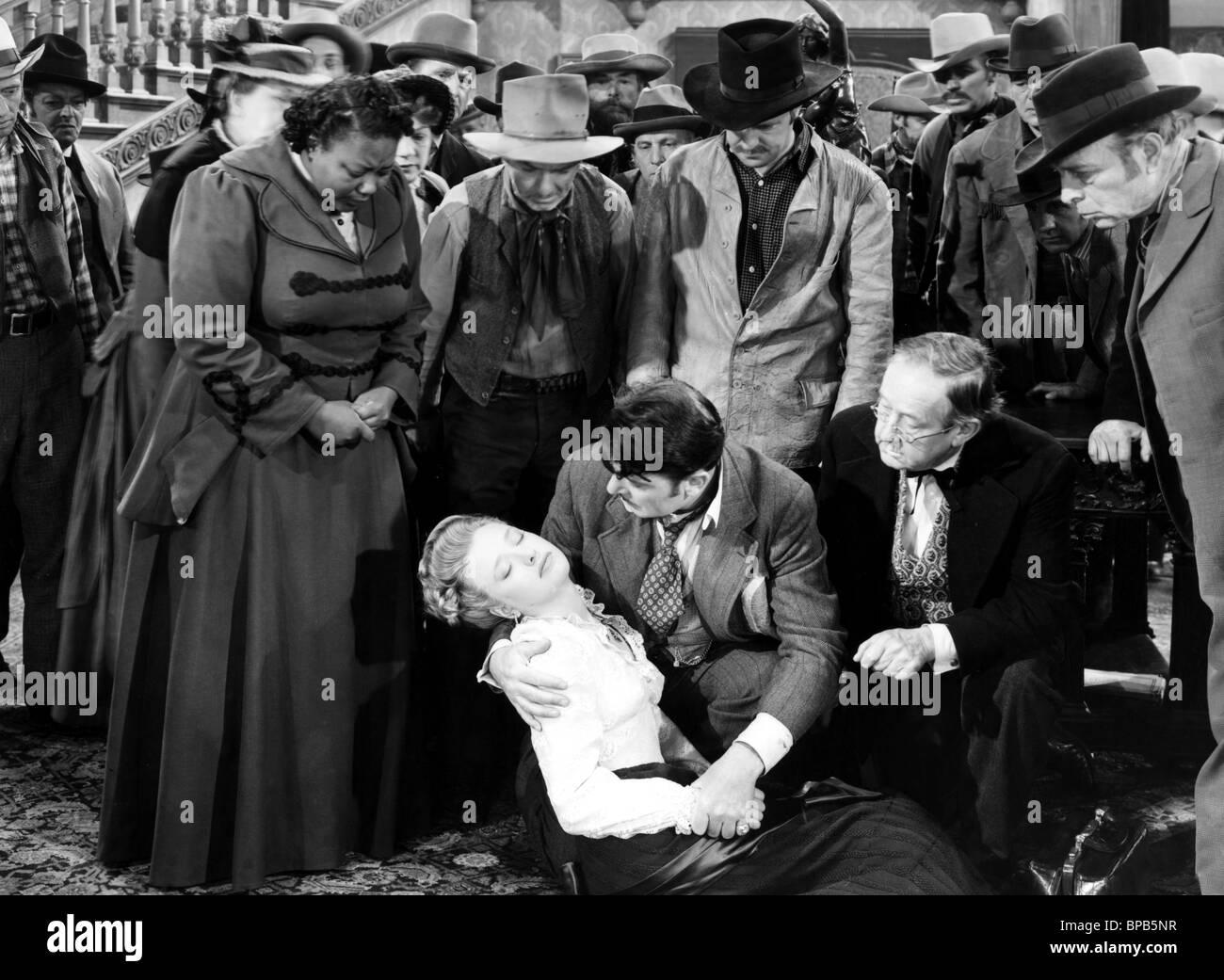MARIETTA CANTY, PRISCILLA LANE, GEORGE BRENT, SPENCER CHARTERS, SILVER QUEEN, 1942 - Stock Image