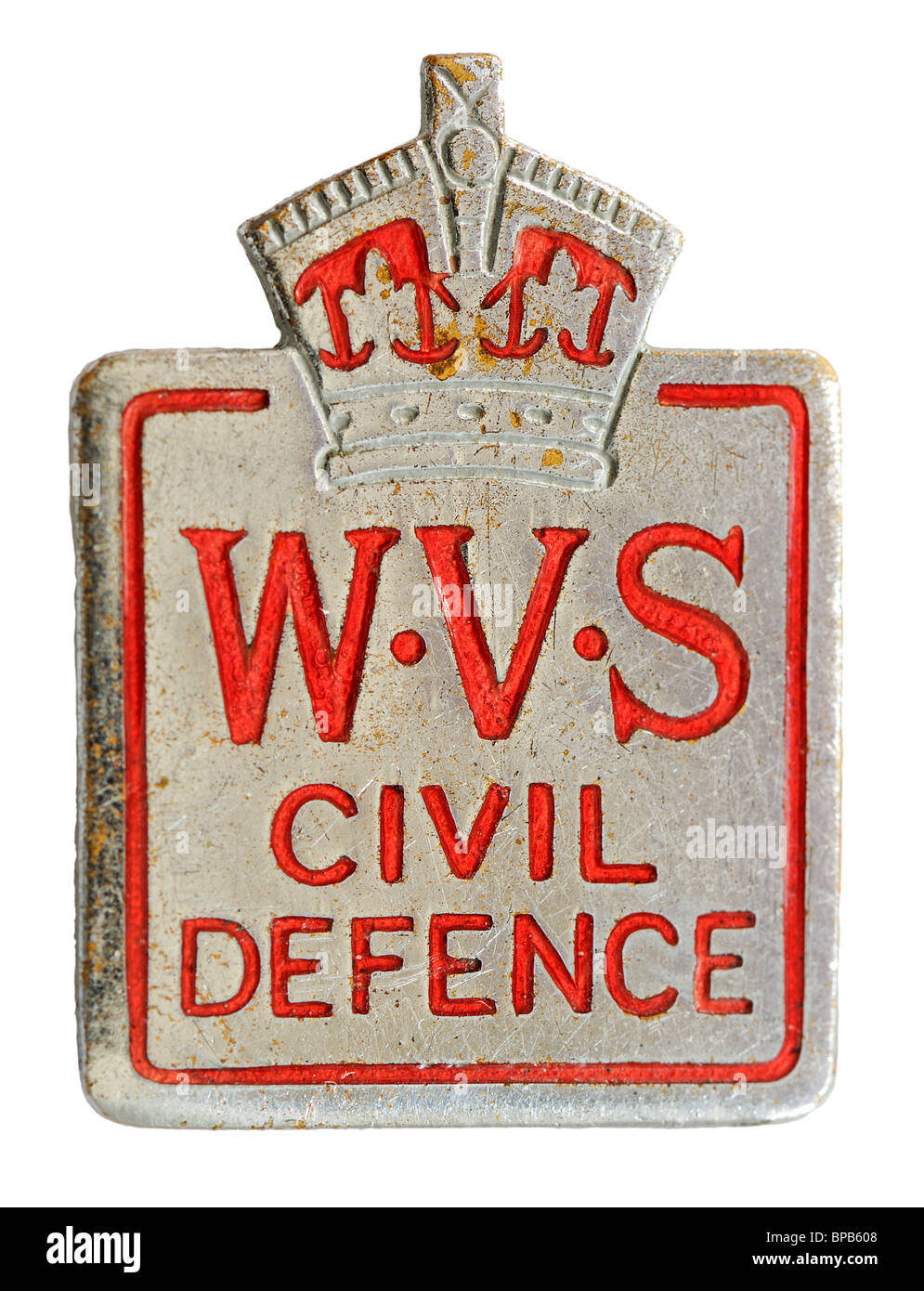 WW2 W.V.S.   Women s Voluntary Service  Civil Defence  cap badge ... 8223f809f