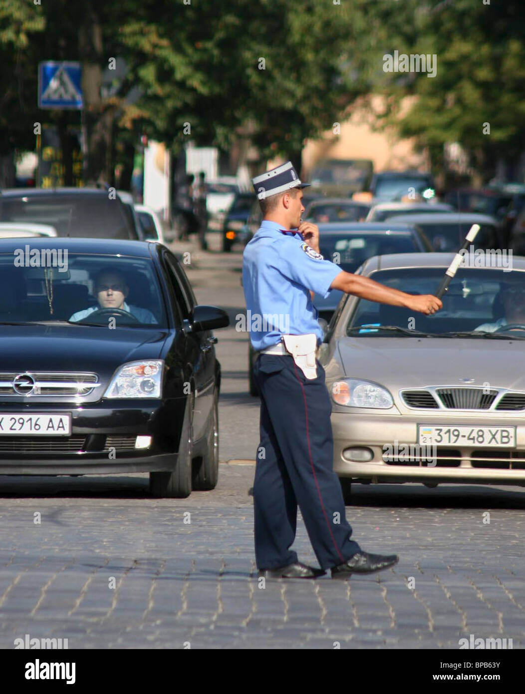 Black Tuesday for traffic police in Ukraine - Stock Image