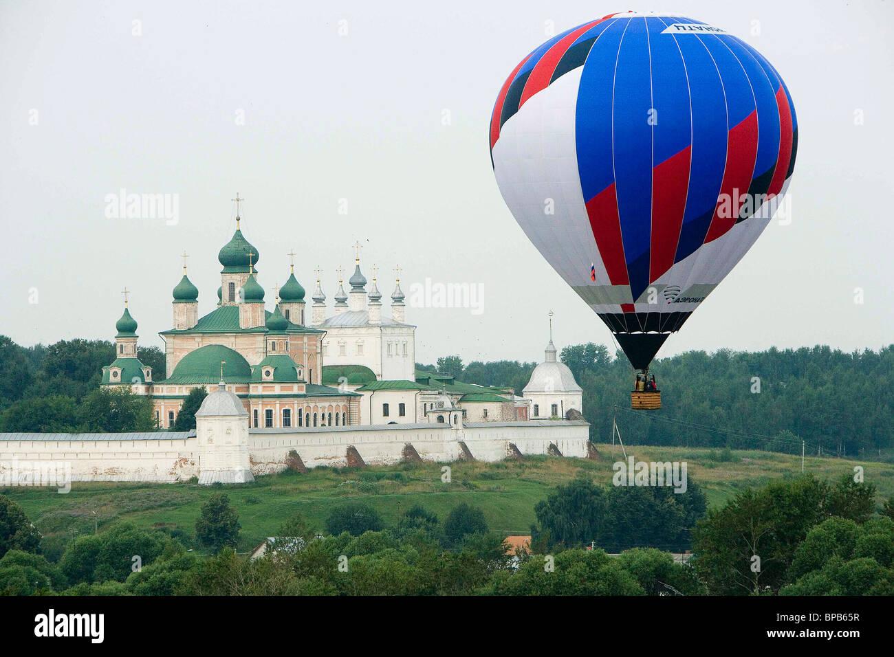 Golden Ring of Russia aeronautics festival held in Pereslavl-Zalessky - Stock Image
