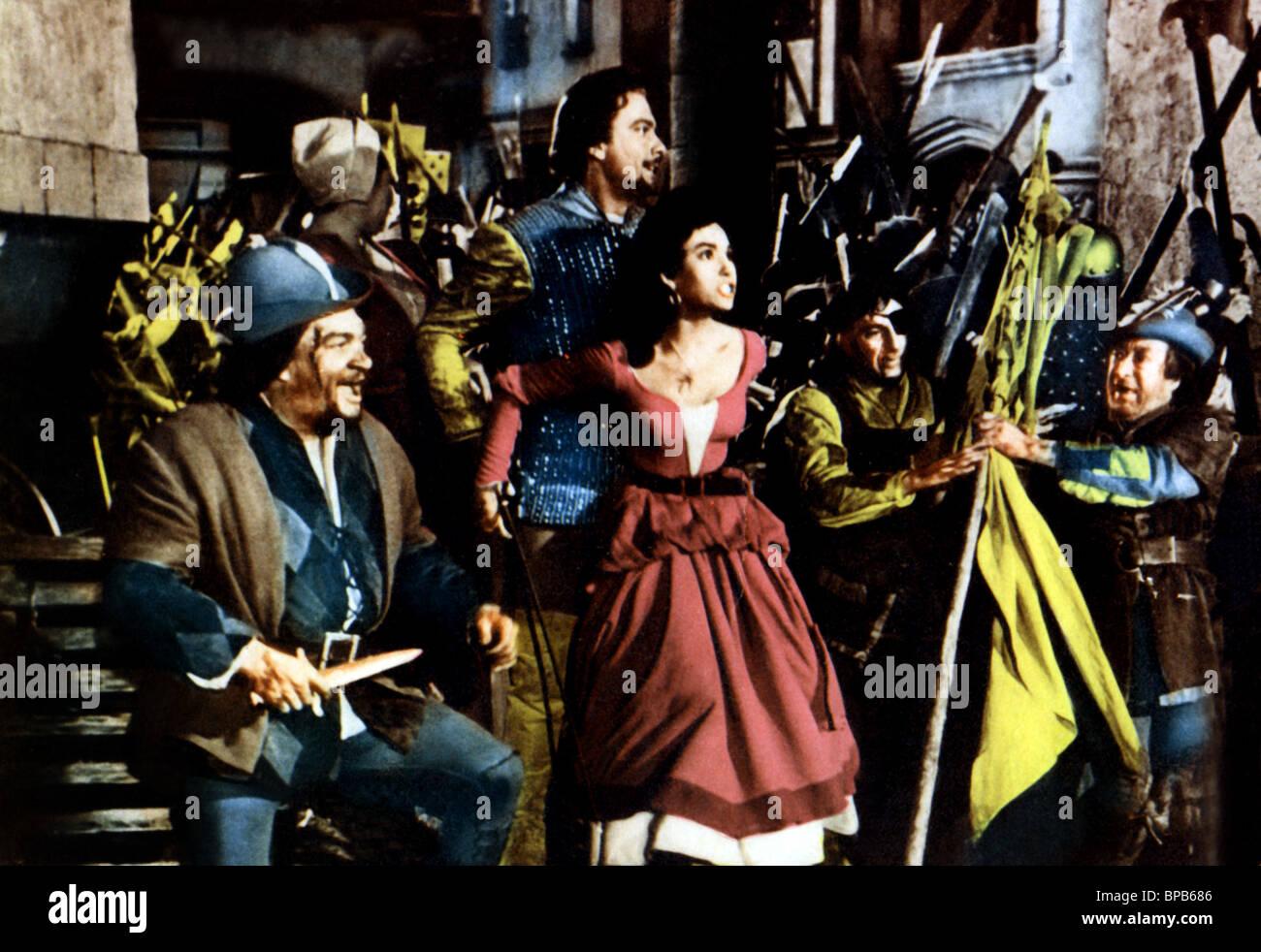 ORESTE KIRKOP, KATHRYN GRAYSON, THE VAGABOND KING, 1956 Stock Photo