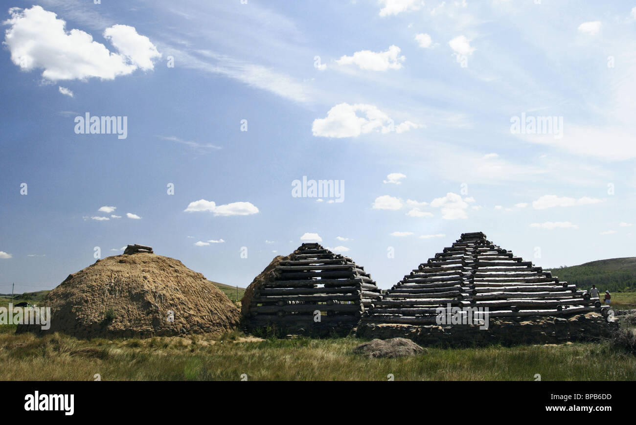 'Arkaim' archeological museum-reserve of one of the ancient civilization - Stock Image