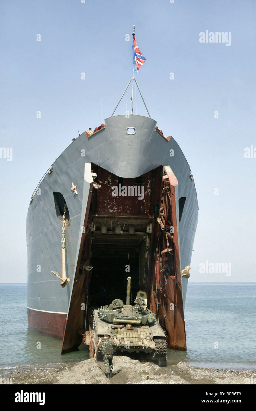 Russian hardware completely withdrawn from the base near Batumi - Stock Image