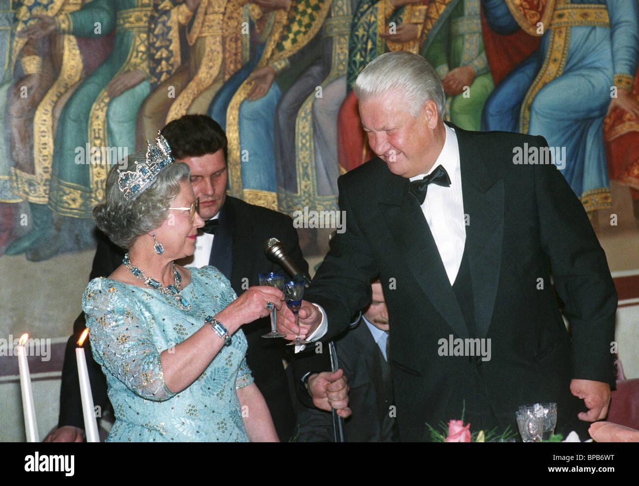 Queen Elizabeth II on visit to Russia, 1994 - Stock Image