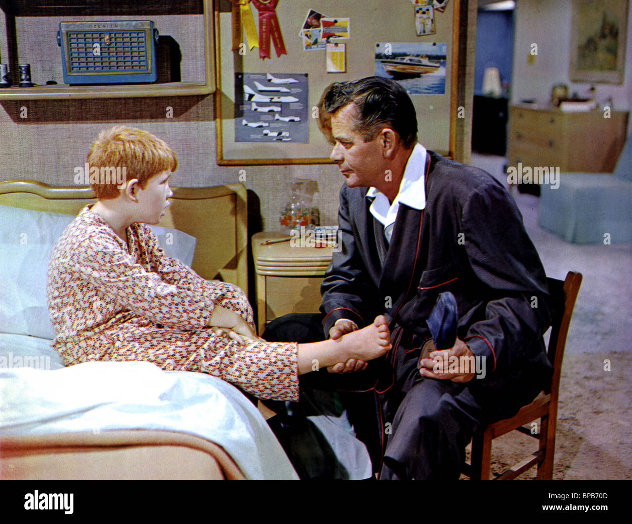 RON HOWARD & GLENN FORD THE COURTSHIP OF EDDIE'S FATHER (1963) - Stock Image