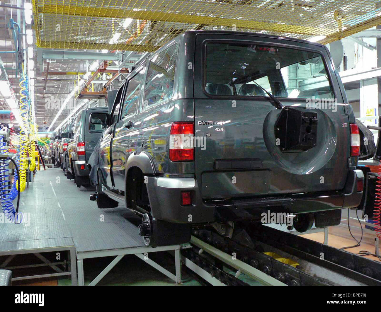 Ulyanovsk Motor Works launches productions of a new UAZ-Patriot jeep - Stock Image
