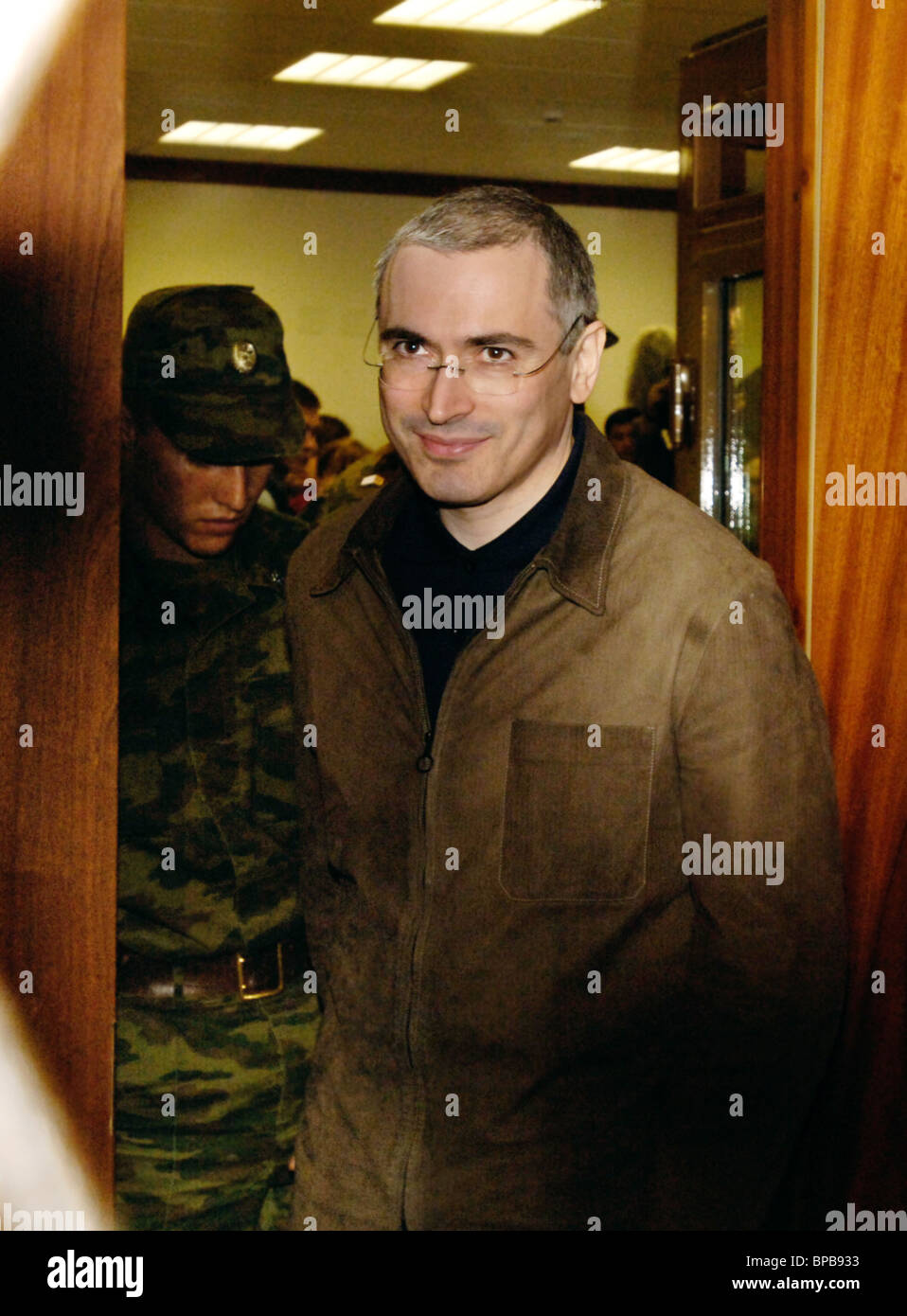 Moscow City Court reviews an appeal on the case of Mikhail Khodorkovsky and Platon Lebedev - Stock Image