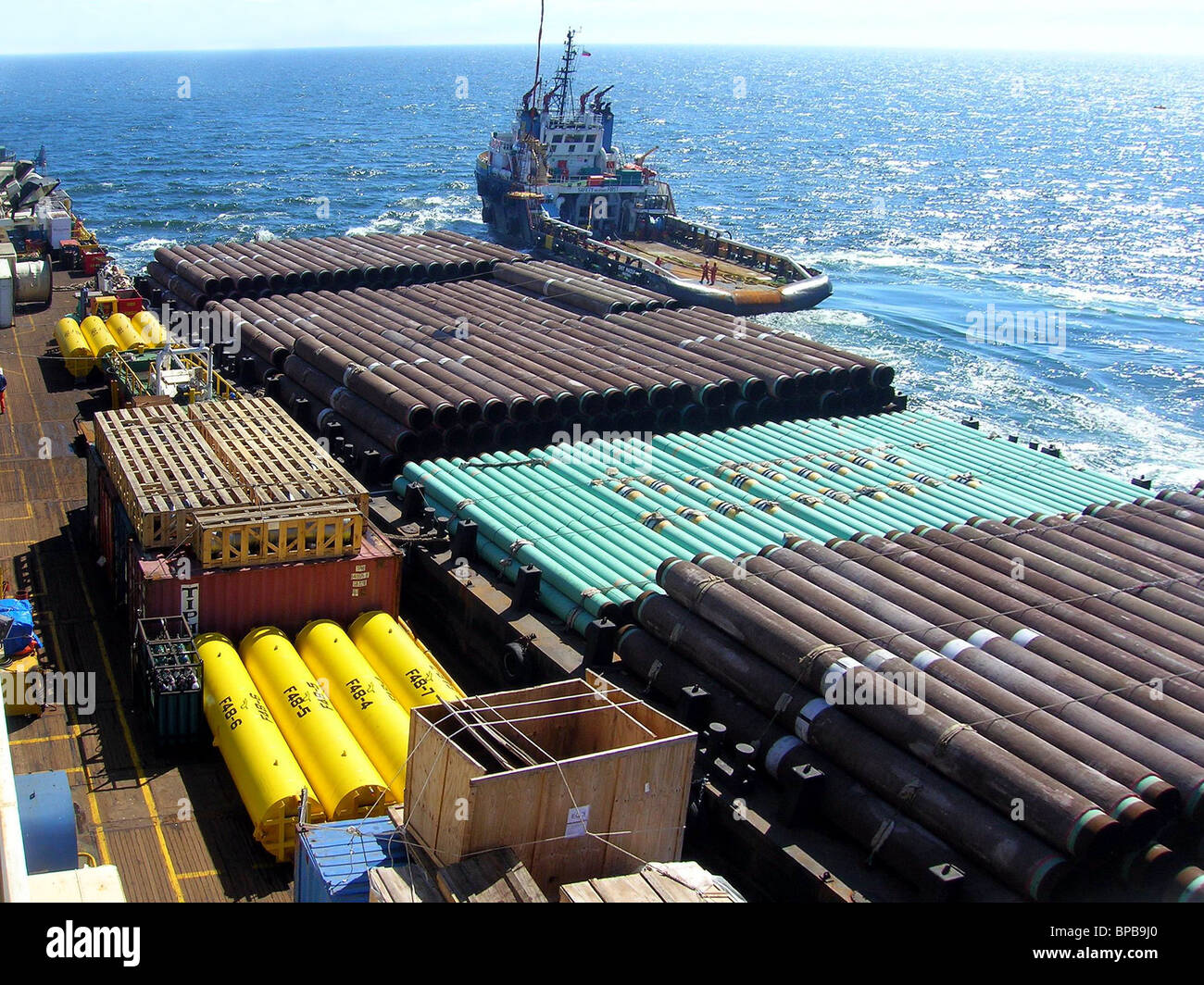 Cargo for їSakhalin-1о project delivered by sea - Stock Image