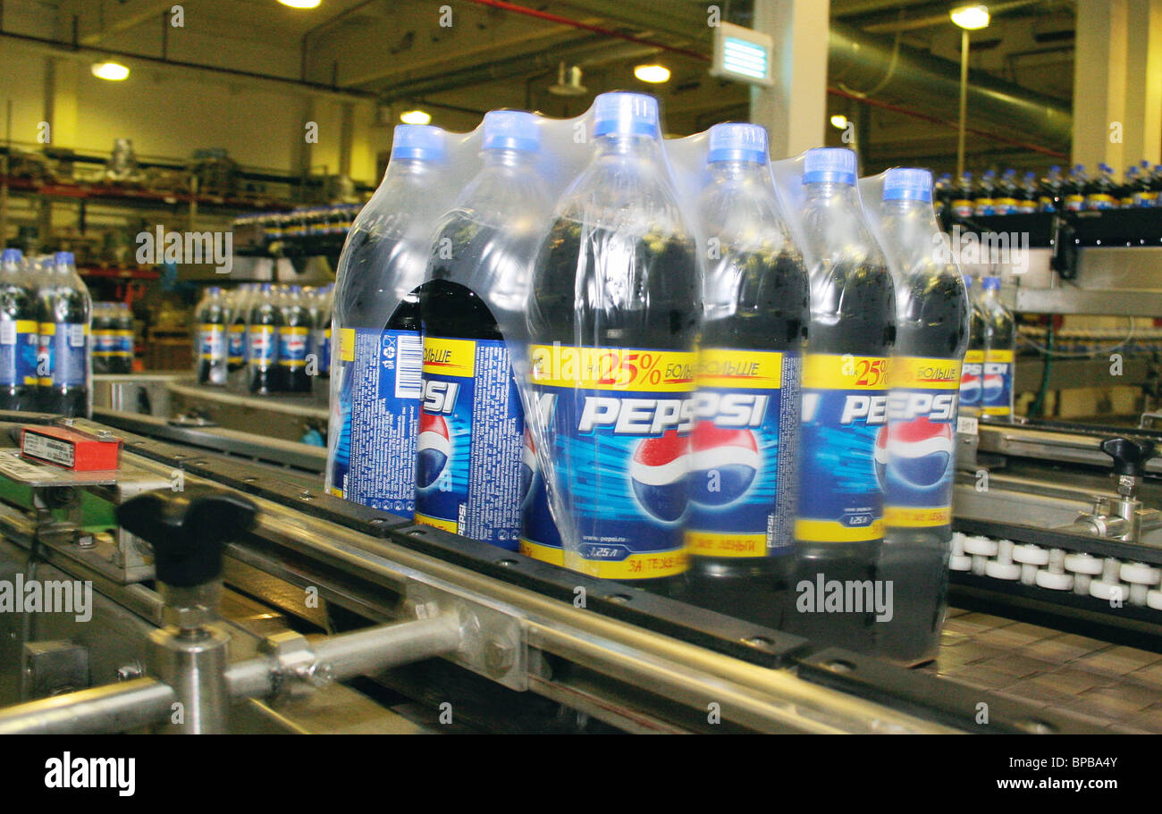 Newest production facility of Pepsi Bottling Group Russia based in St. Petersburg - Stock Image