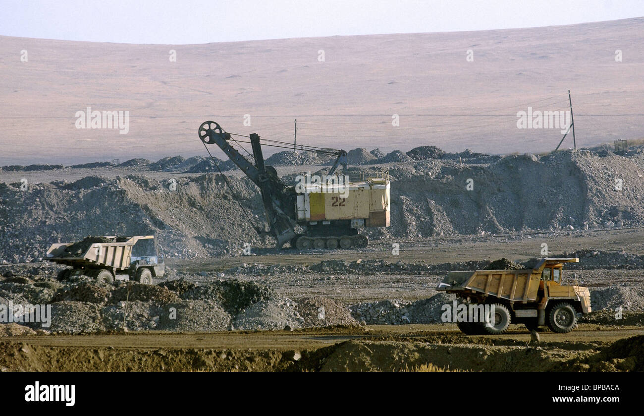 Extraction and processing of uranium ores in Chita region Stock Photo