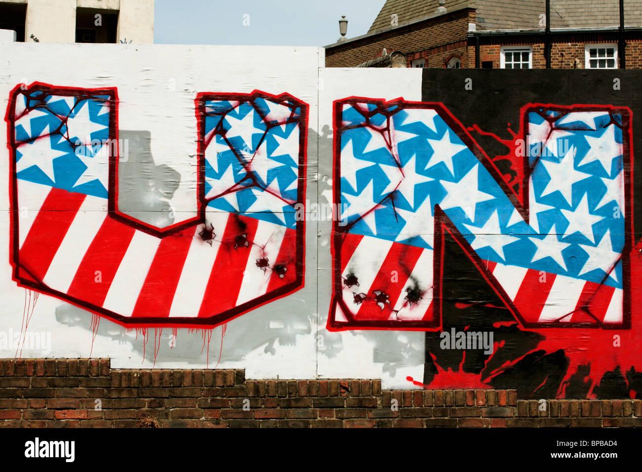 Anti American Graffiti Stock Image