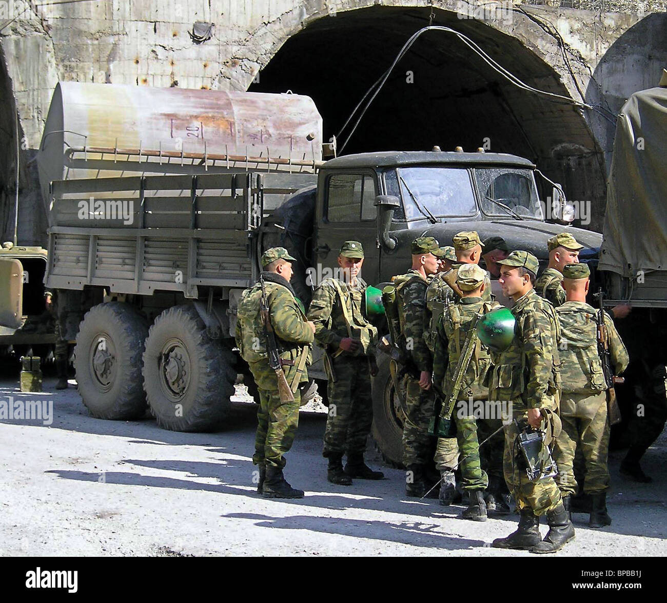 Special forces carry out a rebels disposal operation in the Untsukulsky region of Dagestan - Stock Image