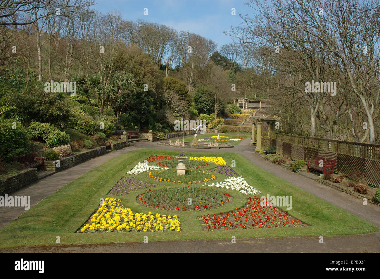 Italian Gardens, South Cliff, Scarborough, North Yorkshire, England ...