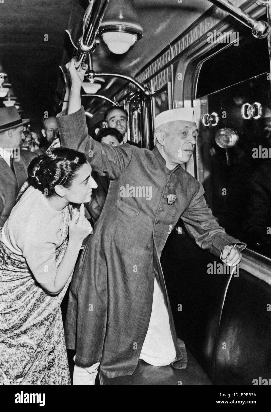 Jawaharlal Nehru visits Moscow, 1955 - Stock Image