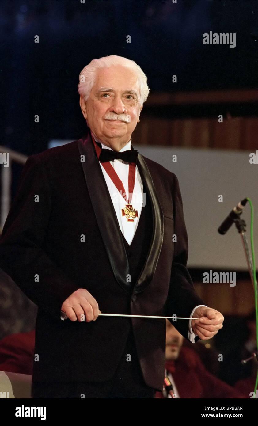 Russian Merited Artiste and superb jazz musician Oleg Lundstrem dies aged 90 - Stock Image