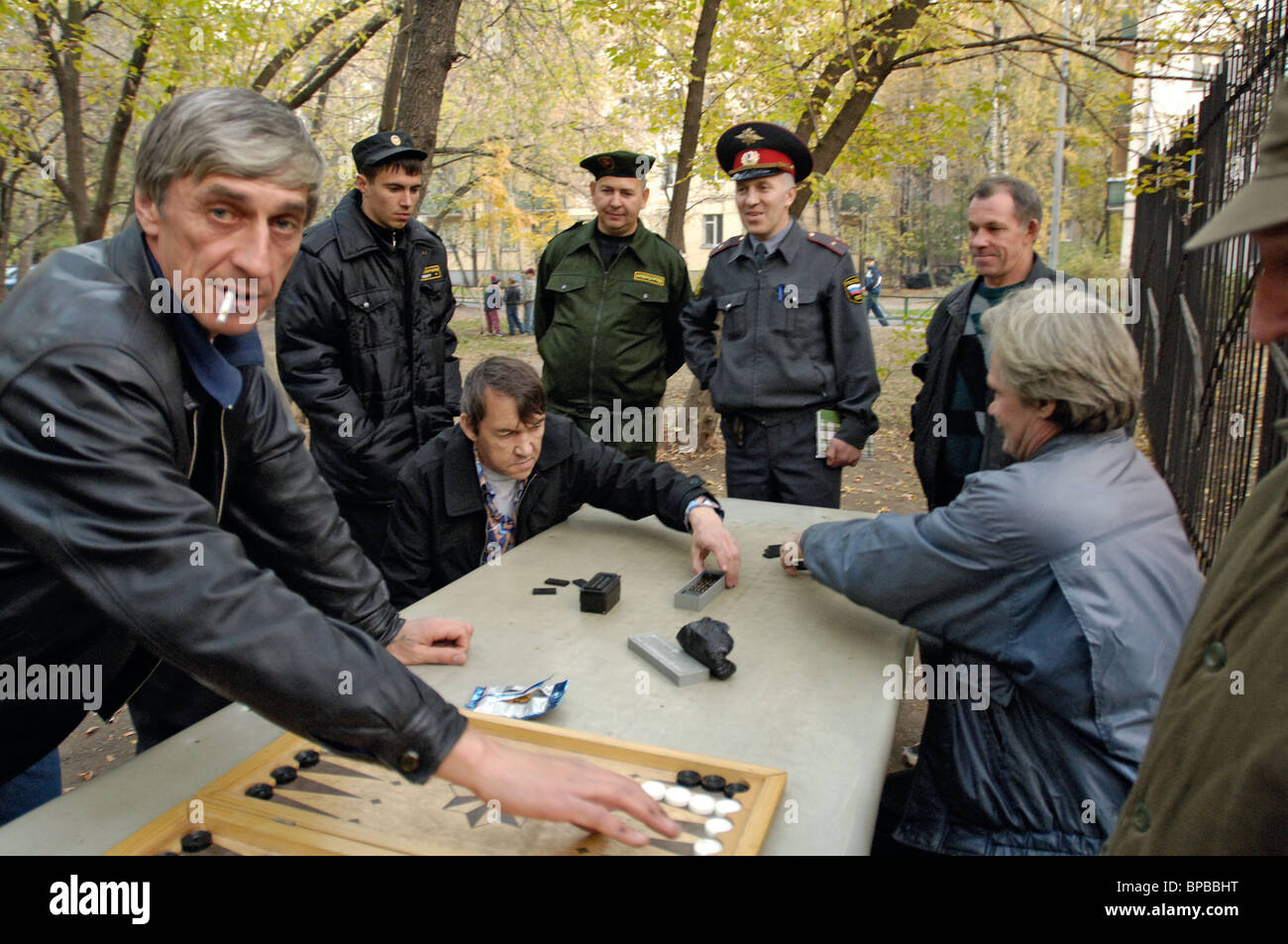 KGB Public Order Mobile Squad patrols Moscow's Zhulebino district - Stock Image