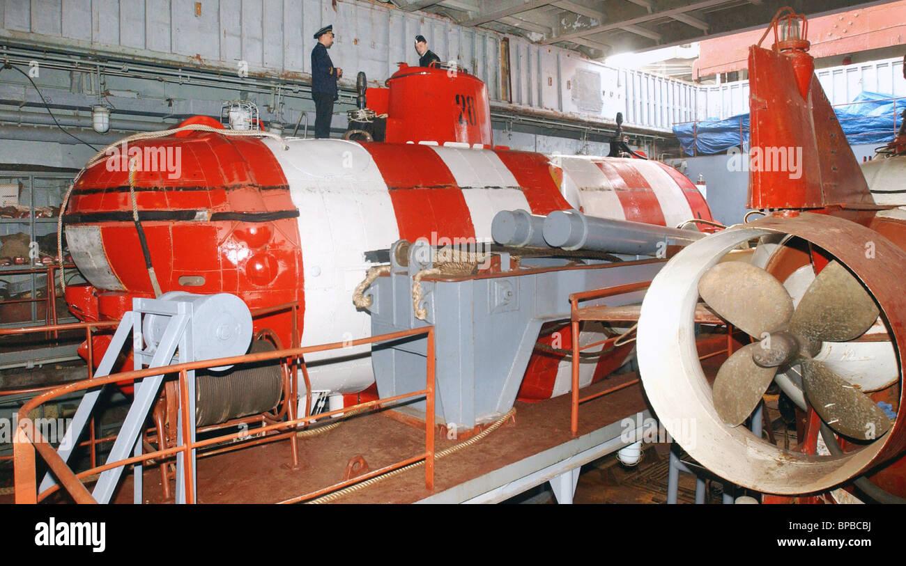 AS-28 bathyscaphe delivered from Kamchatka to Vladivostok - Stock Image