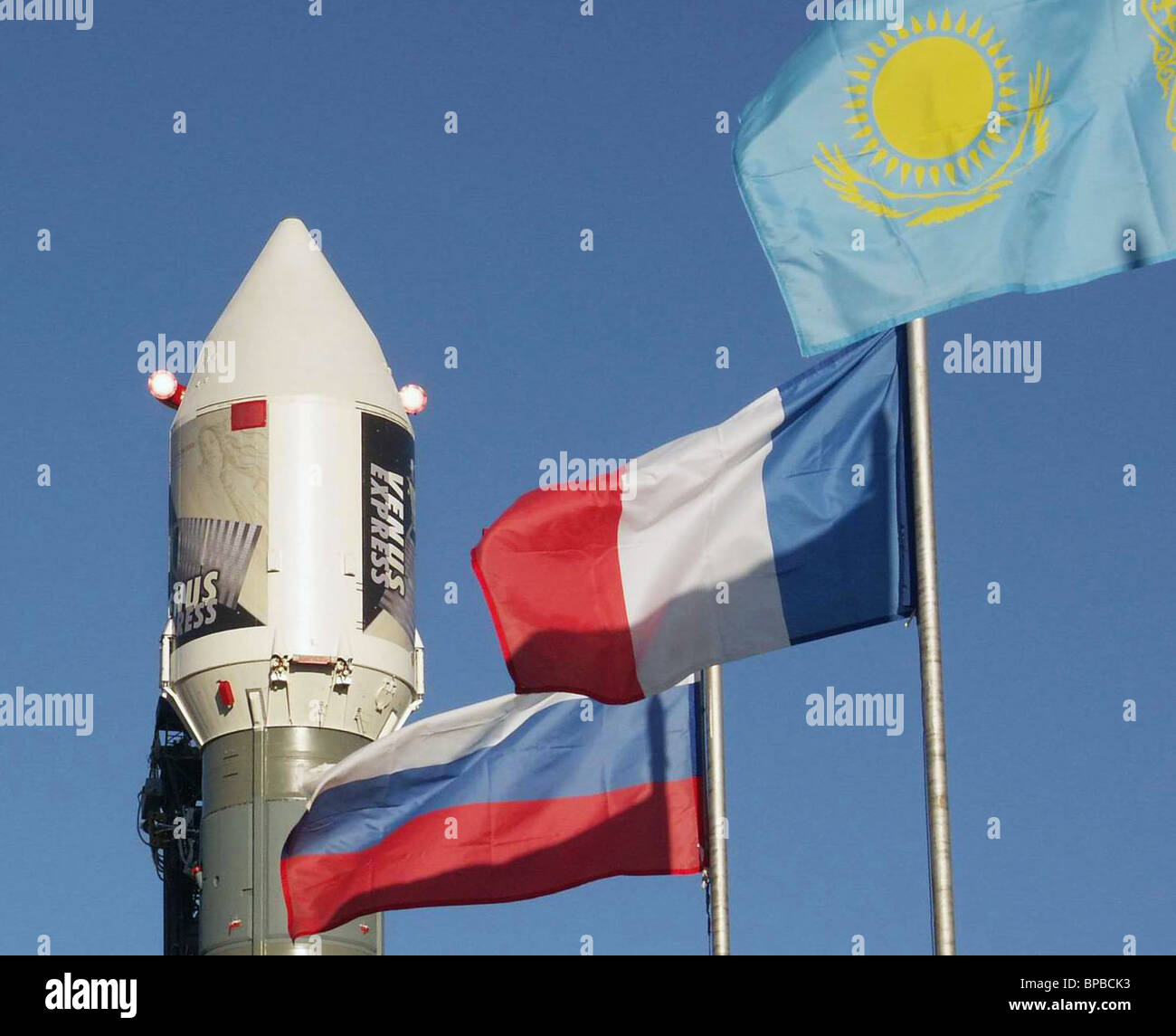 Venus Express to be launched by Soyuz-Fregat rocket from Baikonur Cosmodrome - Stock Image