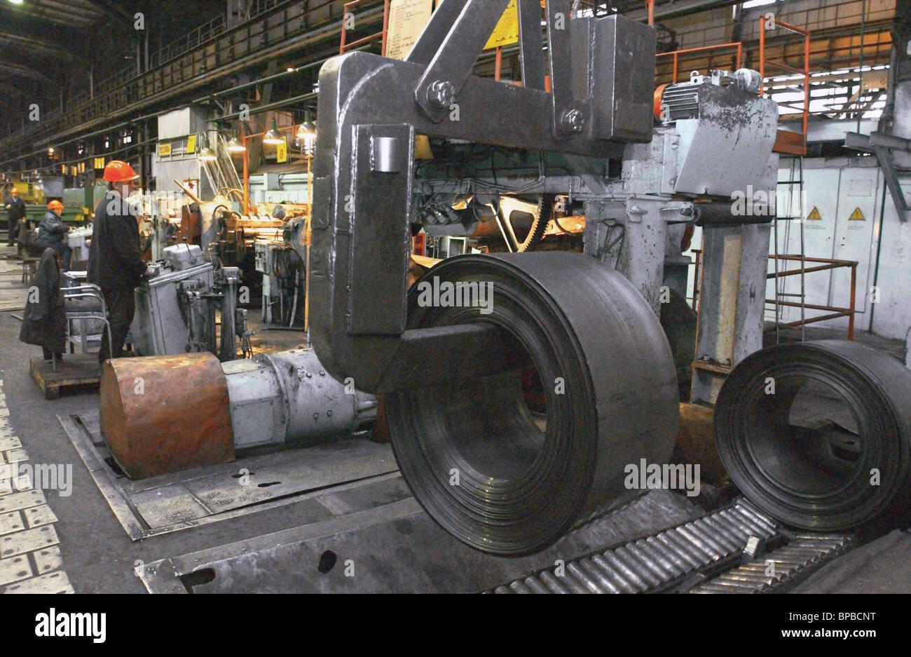 Operation of Novosibirsk-based Kuzmin Metalworks - Stock Image